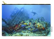 Diver At The Wreck Carry-all Pouch