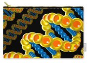Dna Strand - Dna Strands Art - Genetics Genetic - Gene Genes - Conceptual - Square Format Image Carry-all Pouch