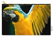Do Your Exercise Daily Blue And Yellow Macaw Carry-all Pouch