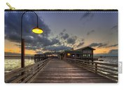 Dock Lights At Jekyll Island Carry-all Pouch by Debra and Dave Vanderlaan