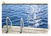 Dock On Summer Lake With Sparkling Water Carry-all Pouch