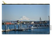 Dock View Of Mt. Rainier Carry-all Pouch