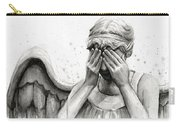 Doctor Who Weeping Angel Don't Blink Carry-all Pouch by Olga Shvartsur