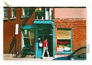 Documenting Vintage Montreal Depanneur Deli Wilensky Montreal Restaurant Paintings Cspandau  Art Carry-all Pouch