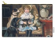 Doddy And Her Pets Carry-all Pouch by Charles Trevor Grand