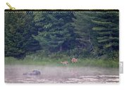 Doe And Fawn In The Early Morning Carry-all Pouch