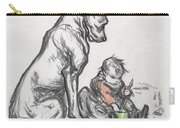 Dog And Child Carry-all Pouch by Robert Noir