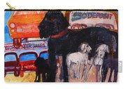 Dog At The Used Car Lot, Rex Gouache On Paper Carry-all Pouch