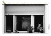Dog In A Window Carry-all Pouch by Fabrizio Troiani