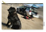 Dog In Front Of A Climbers Car Carry-all Pouch