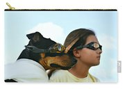 Dog Is My Co-pilot Carry-all Pouch by Laura Fasulo