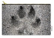 Dog Paw Print In Sand Carry-all Pouch by Elena Elisseeva