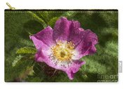 Dog Rose Textured Carry-all Pouch