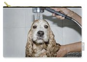 Dog Taking A Shower Carry-all Pouch