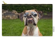 Dog Wearing Sunglass Carry-all Pouch by Stephanie McDowell