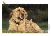Dog With Kitten Carry-all Pouch
