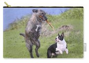 Dogs Playing With Stick Carry-all Pouch