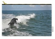 Dolphin In Waves Carry-all Pouch