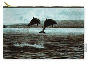 Dolphin Pair-in The Air Carry-all Pouch