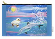 Dolphin Plays With Duckling Carry-all Pouch