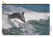 Dolphin Riding The Waves Carry-all Pouch