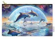 Dolphins By Moonlight Carry-all Pouch by Adrian Chesterman