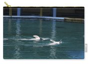 Dolphins Swimming Upside Down As Part Of Show Carry-all Pouch
