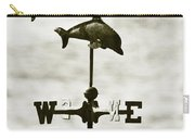 Dolphins Weathervane In Sepia Carry-all Pouch by Ben and Raisa Gertsberg