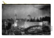 Dome Of The Rock -- Black And White Carry-all Pouch