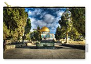 Dome Of The Rock Hdr Carry-all Pouch by David Morefield