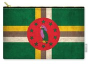 Dominica Flag Vintage Distressed Finish Carry-all Pouch
