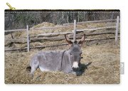Donkey In Hay Carry-all Pouch