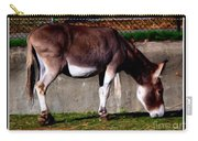 Donkey With Oil Painting Effect Carry-all Pouch