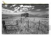 Don't Fence Me In - Black And White Carry-all Pouch