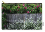 Don't Fence Me In - Wild Roses - Old Fence Carry-all Pouch