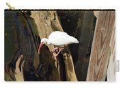 White Ibis Bird Carry-all Pouch