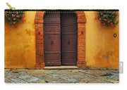 Door And Flowers In A Tuscan Courtyard Carry-all Pouch