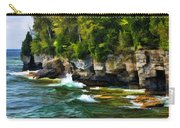 Door County Cave Point Cliffs Carry-all Pouch