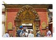 Doorway In Bhaktapur Durbar Square In Bhaktapur-nepal Carry-all Pouch