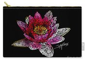 Dots Of Flowers Carry-all Pouch