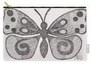 Dotted Butterfly Carry-all Pouch