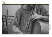 Double Bass Player Carry-all Pouch by David Morefield