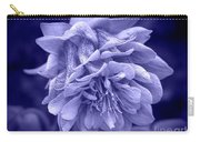 Double Columbine In Blue Carry-all Pouch