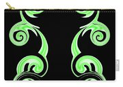 Double Green Swirl Carry-all Pouch