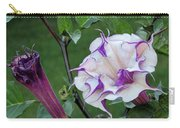 Double Purple Datura 6 Carry-all Pouch