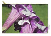 Double Purple Datura 8 Carry-all Pouch