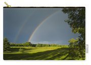 Double Rainbow Over Fields Carry-all Pouch