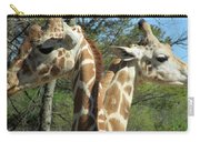 Giraffes With A Twist Carry-all Pouch