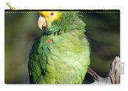 Double Yellow Headed Parrot Carry-all Pouch
