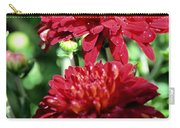 Doubled Red Mums Carry-all Pouch
